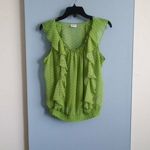 Size  s / Suzy shier green dots camisole top